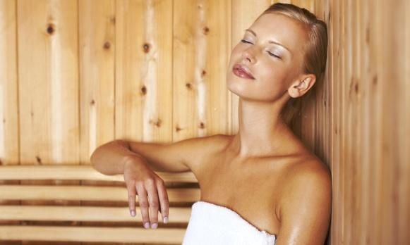 sauna person